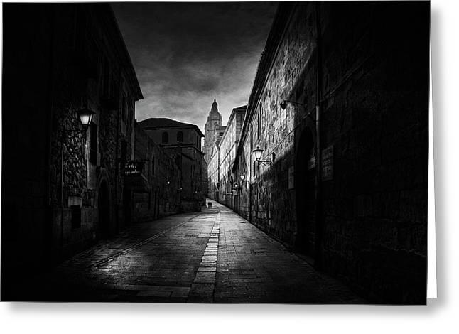 A Street In Salamanca Greeting Card
