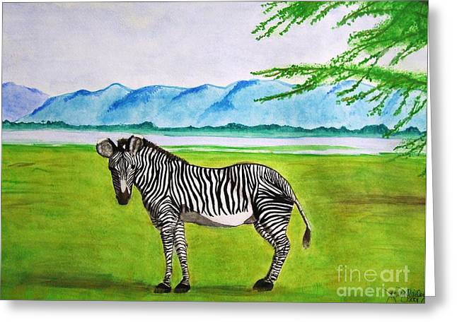 A Striped Chap Greeting Card