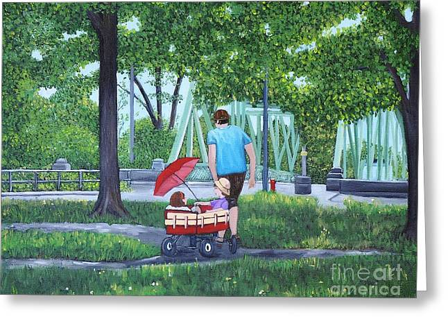 A Stroll In The Park Greeting Card by Reb Frost