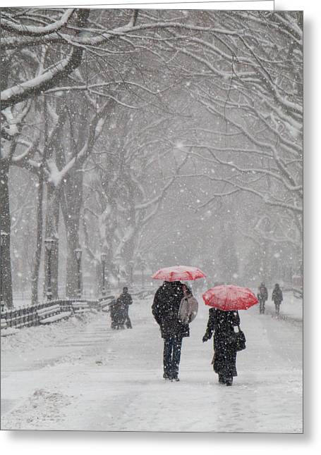 A Stroll In The Snow Greeting Card