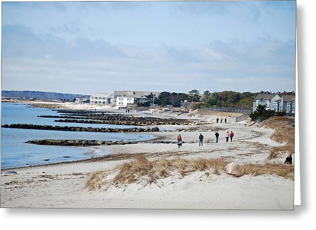 A Stroll On The Beach Greeting Card by Alan Holbrook