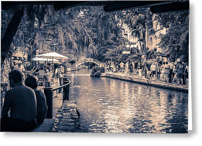 A Stroll On The Riverwalk Greeting Card