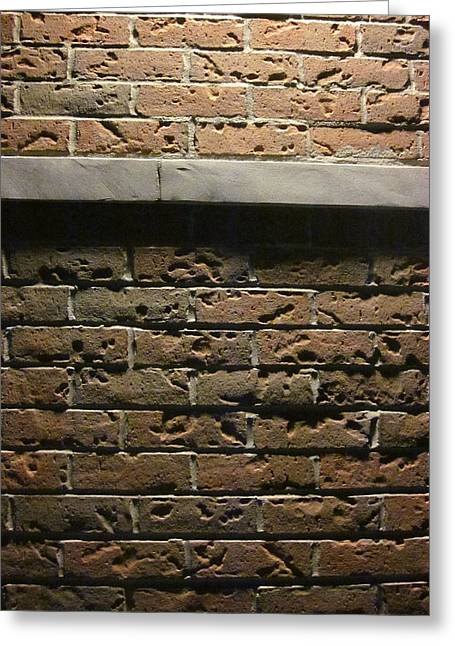 A Study In Brick Greeting Card by Guy Ricketts