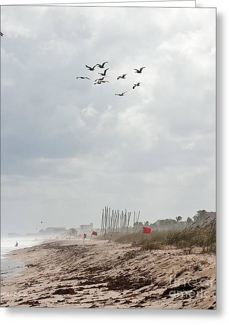 A Summer Day At Delray Beach Florida Greeting Card by Michelle Wiarda