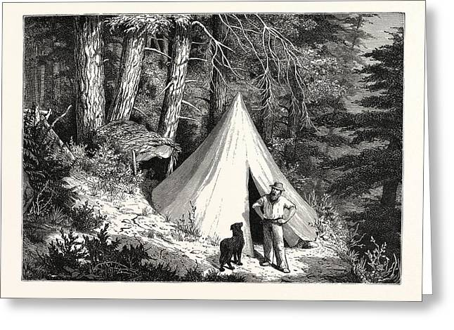 A Summer Encampment In A North Pacific Forest Copper Greeting Card