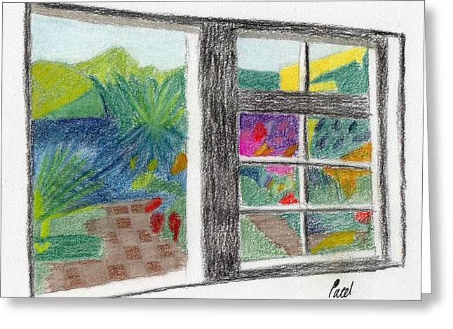 A Summer Garden Greeting Card by Bav Patel