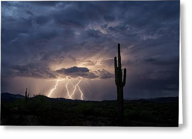 A Summer Storm  Greeting Card by Saija  Lehtonen