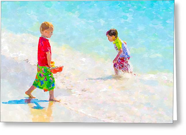 A Summer To Remember V Greeting Card by Susan Molnar