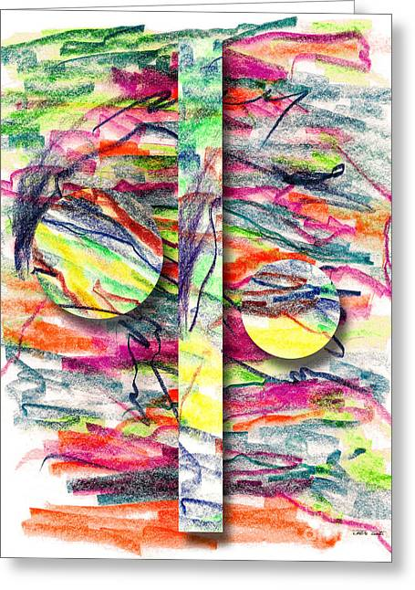 Greeting Card featuring the drawing A Summers Day Breeze by Peter Piatt