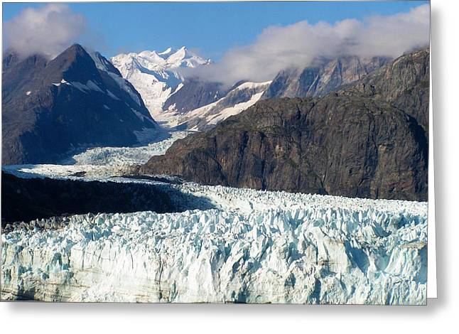 A Sunny Day In Glacier Bay Alaska Greeting Card