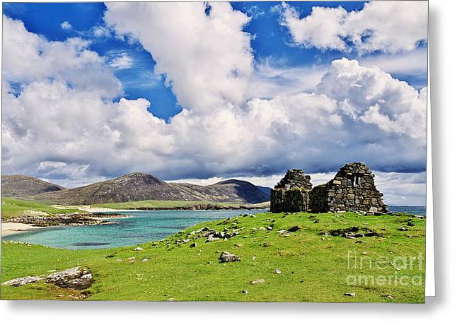 Greeting Card featuring the photograph A Sunny Day In The Hebrides by Juergen Klust