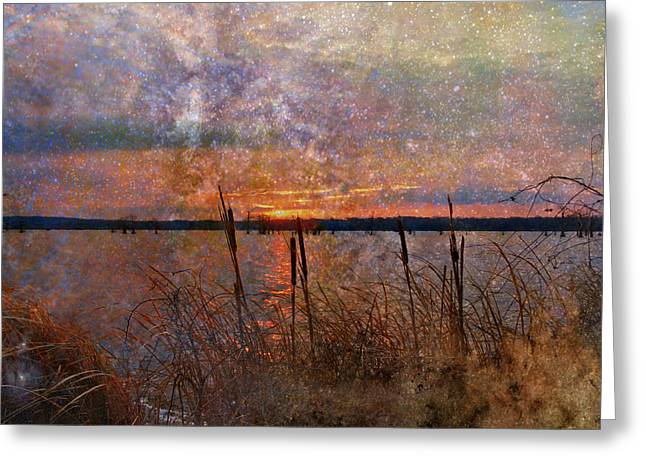 A Sunrise To Remember Greeting Card by J Larry Walker