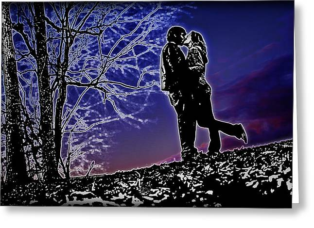 A Sunset Embrace Greeting Card by Brian Archer