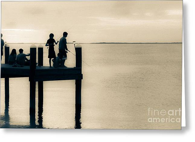 A Sunset Endless Summer Greeting Card by Rene Triay Photography