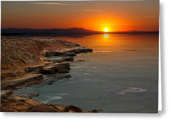 Greeting Card featuring the photograph A Sunset by Lynn Geoffroy