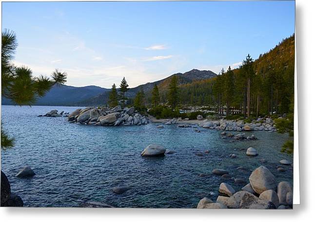 Just Before Sunset At Lake Tahoe Greeting Card by Alex King