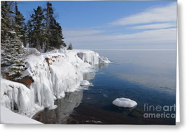 A Superior Winter Day #2 Greeting Card by Sandra Updyke