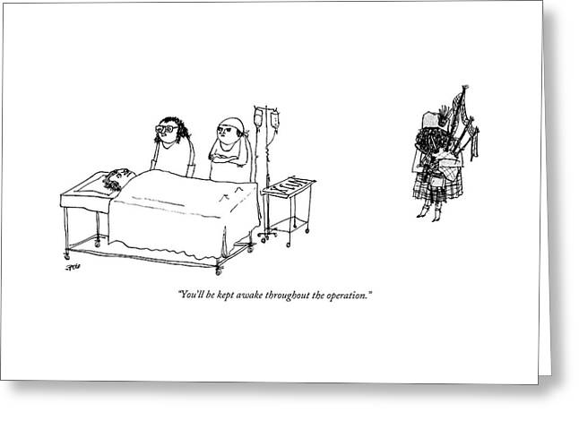 A Surgeon Addresses A Patient On The Operating Greeting Card