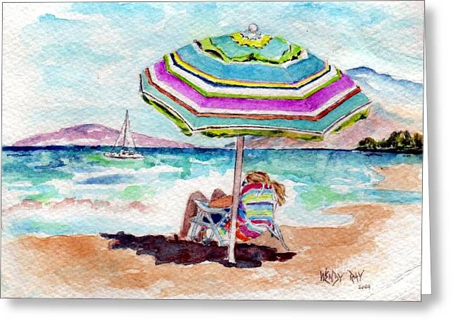 A Sweet Day In Maui Greeting Card