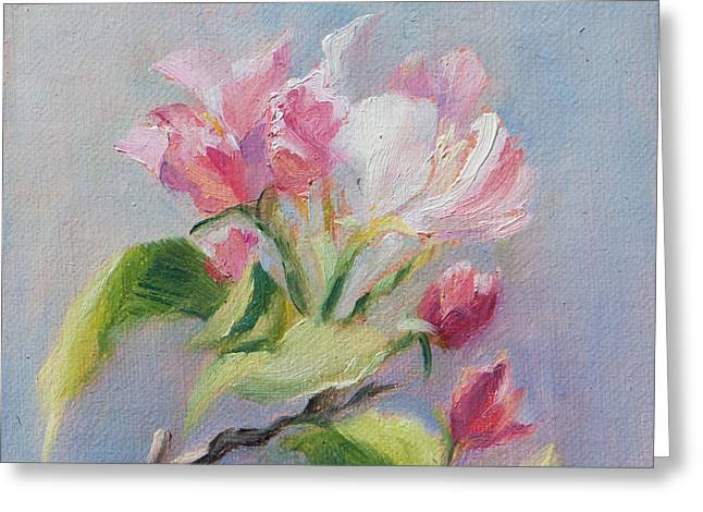 A Sweet Scent Greeting Card by Debbie Lamey-MacDonald
