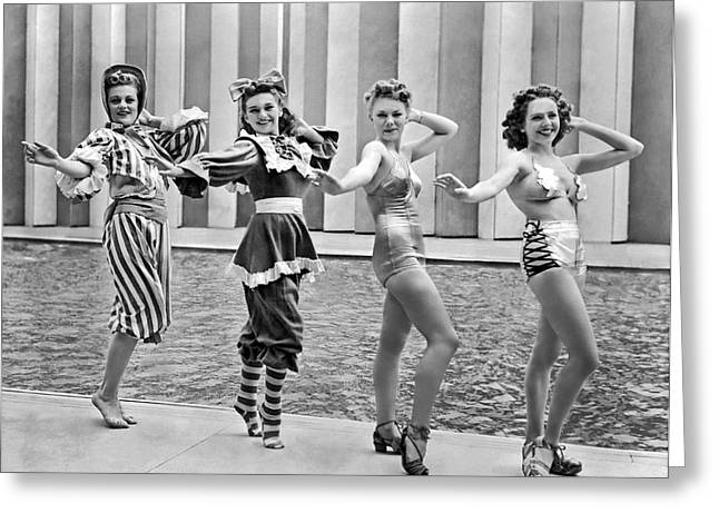 A Swimwear Fashion Show Greeting Card by Underwood Archives