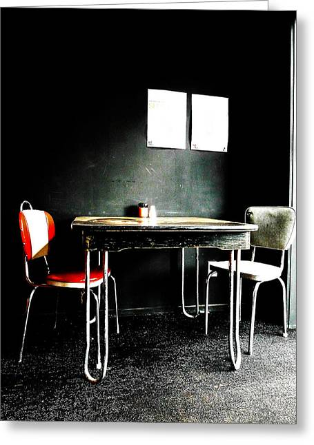 A Table For Two Greeting Card by Steve Taylor