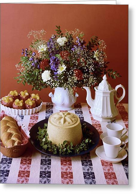 A Table Of Pastries Greeting Card