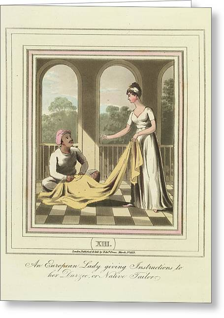 A Tailor Greeting Card by British Library