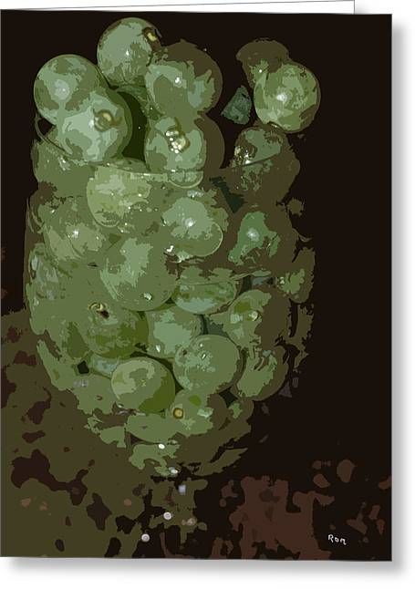 A Tall Glass Of Grapes Greeting Card by Robert Margetts