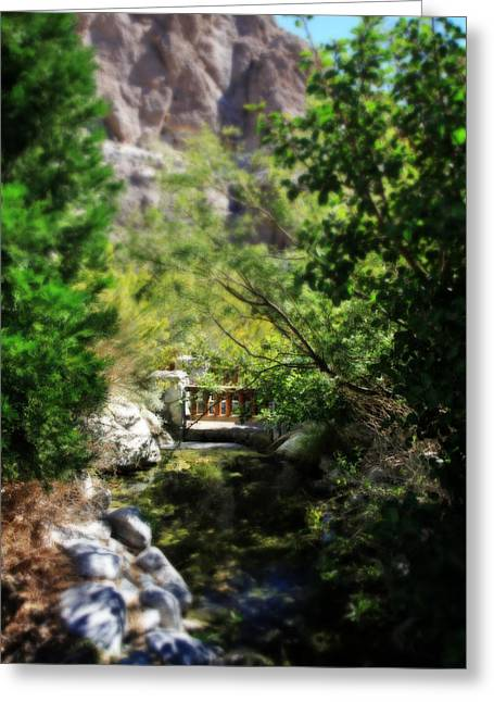 A Teeny Tiny Bridge Greeting Card by Laurie Search