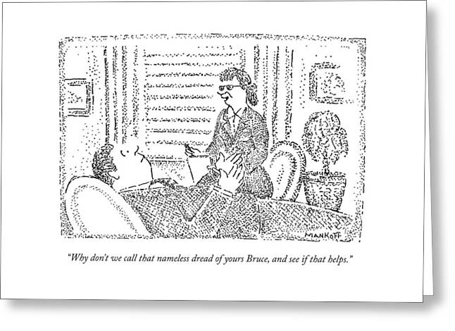 A Therapist Talks To A Patient Greeting Card