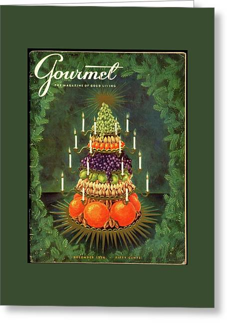 A Tiered Christmas Centerpiece Greeting Card by Hilary Knight