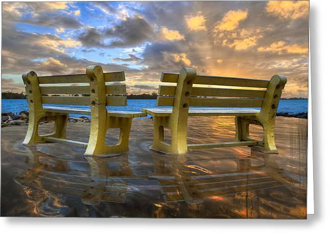 A Time For Reflection Greeting Card by Debra and Dave Vanderlaan
