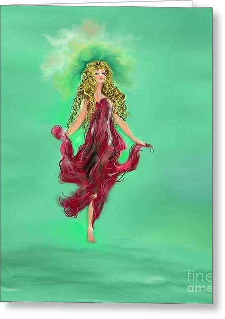 Greeting Card featuring the painting A Timeless Dream by Lori  Lovetere