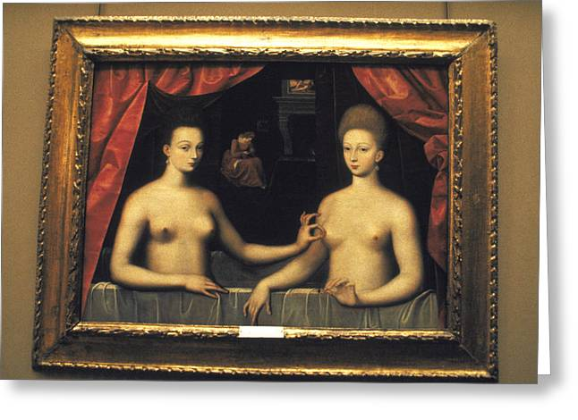 A Titillating Painting From The French Court Greeting Card