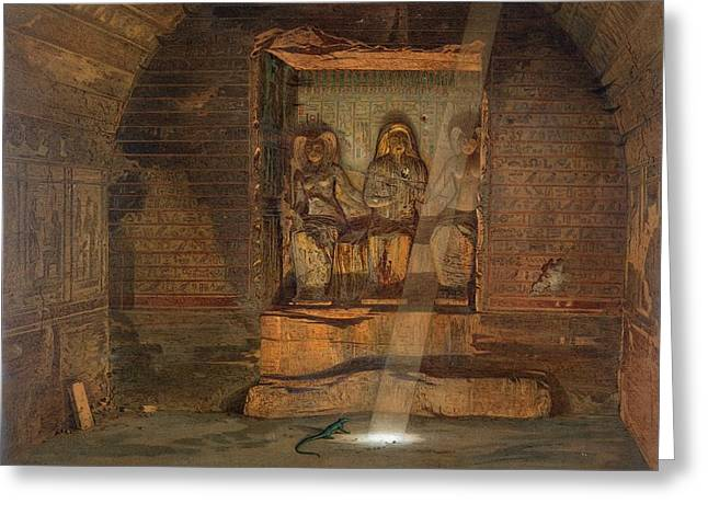 A Tomb At El-kab, One Of 24 Greeting Card by Carl Friedrich Heinrich Werner