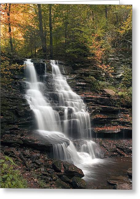 A Touch Of Autumn At Erie Falls Greeting Card