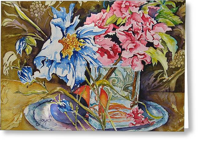 A Touch Of Class Greeting Card by Joy Skinner