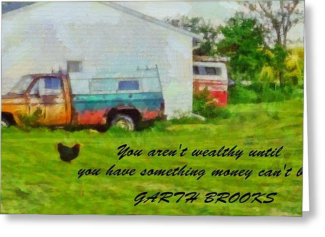 A Touch Of Country Greeting Card by Dan Sproul