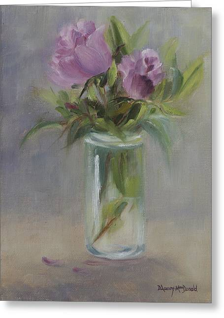 A Touch Of Elegance Greeting Card by Debbie Lamey-MacDonald
