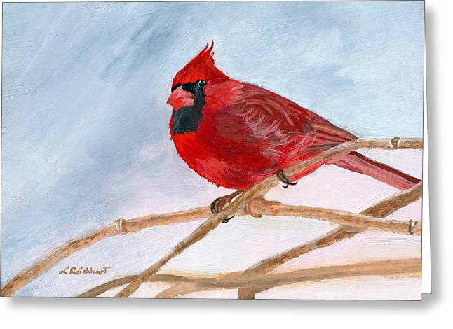 Greeting Card featuring the painting A Touch Of Red by Lynne Reichhart
