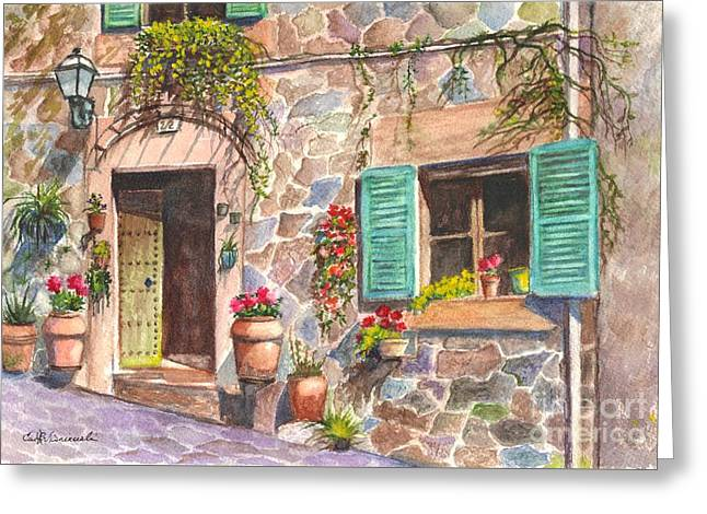 A Townhouse In Majorca Spain Greeting Card