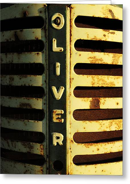 A Tractor Named Oliver Greeting Card