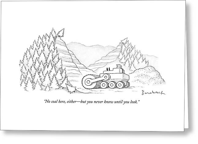 A Tractor Razes Thousands Of Trees Greeting Card