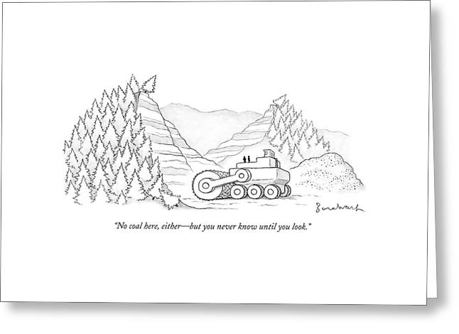 A Tractor Razes Thousands Of Trees Greeting Card by David Borchart