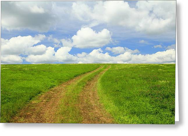 A Trail To The Horizon Greeting Card