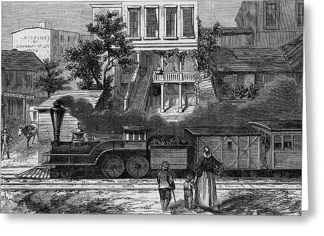 A Train Of The Camden & Amboy Greeting Card by Mary Evans Picture Library