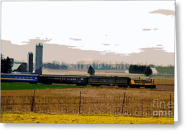 Greeting Card featuring the photograph A Train Runs Through It by Nina Silver