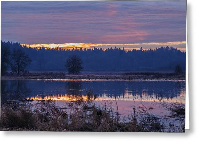A Tranquil Sunrise Greeting Card