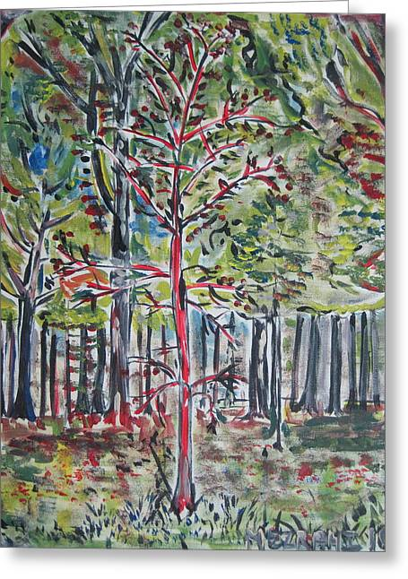 A Tree Grows In Marine Park Greeting Card
